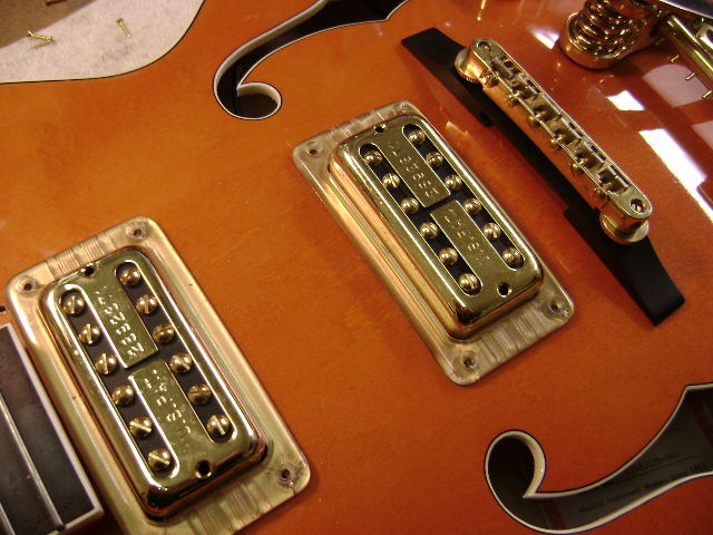 gretsch upgrades gretsch t v jones pickup upgrade custom harness before stock import pickups inferior pots jack caps and wire